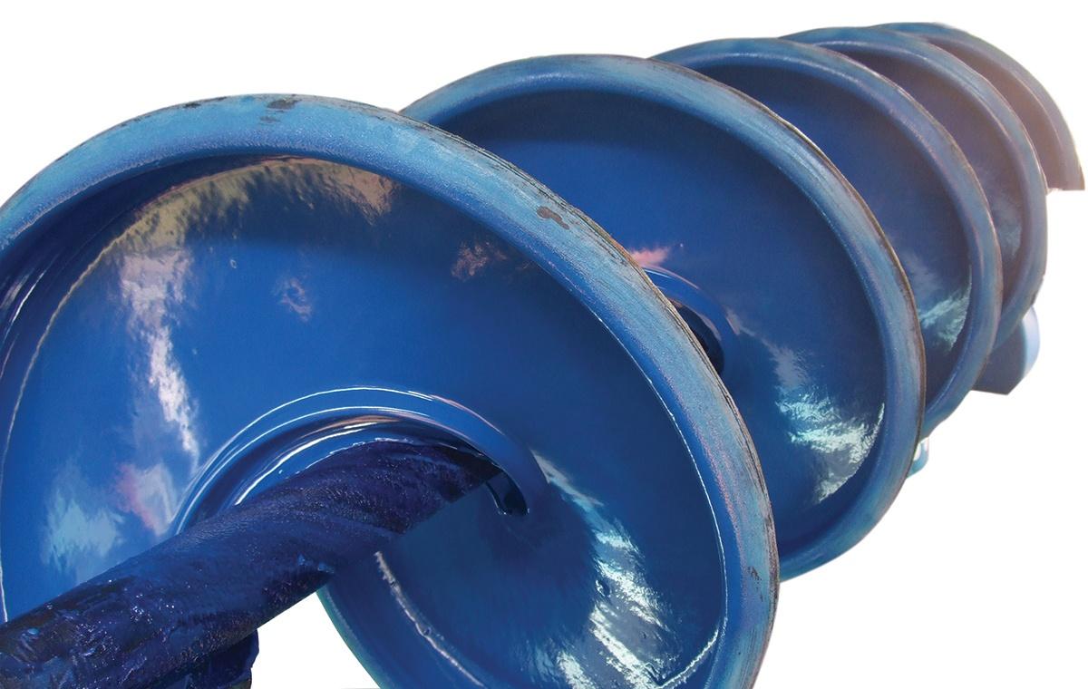 Screw augar coating