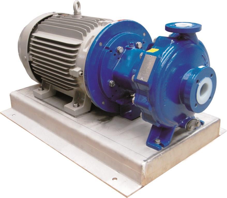 Teflon lined chemical mag drive pump